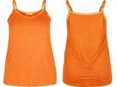 ZIZZI TOP BASIC RAMIĄCZKA ORANGE XXL 112F